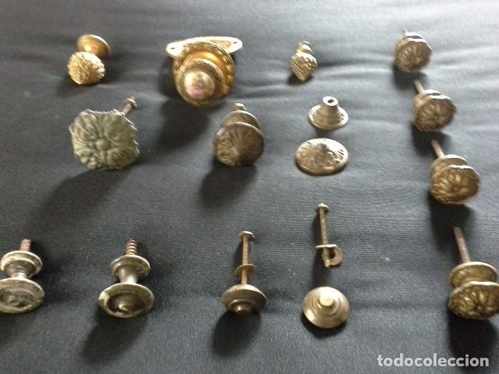 LOTE DE TIRADORES PARA CAJONES (Antigüedades - Técnicas - Cerrajería y Forja - Tiradores Antiguos)