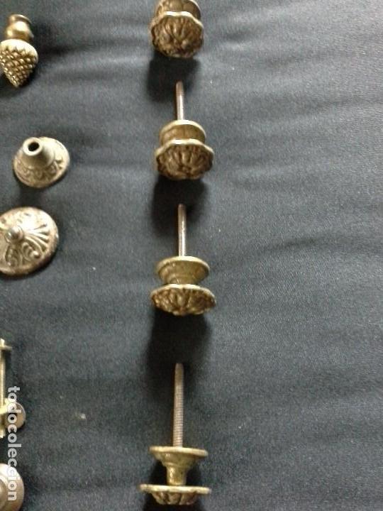 Antigüedades: Lote de tiradores para cajones - Foto 2 - 61488255