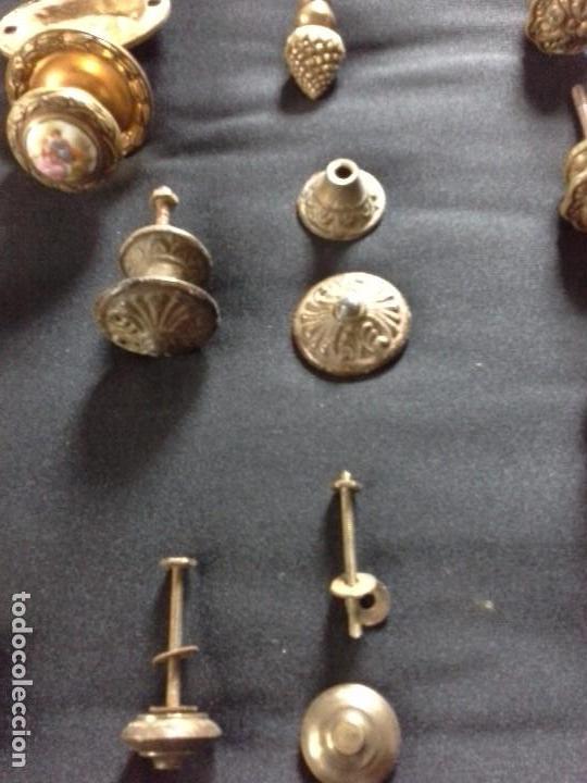 Antigüedades: Lote de tiradores para cajones - Foto 3 - 61488255