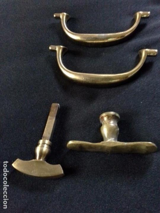 Antigüedades: Lote de tiradores para cajones - Foto 10 - 61488255