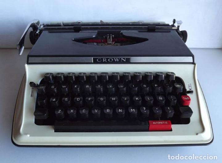 MÁQUINA DE ESCRIBIR CROWN PORTABLE CON MALETÍN (Antigüedades - Técnicas - Máquinas de Escribir Antiguas - Otras)