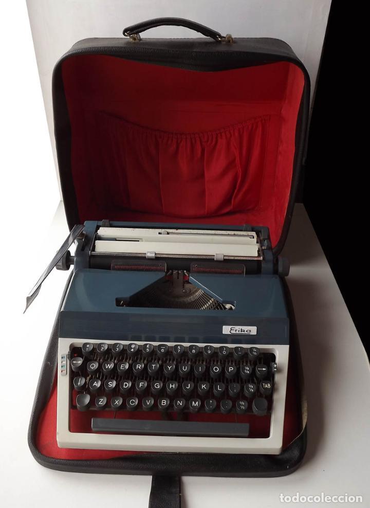 MÁQUINA DE ESCRIBIR ERIKA CON MALETIN (Antigüedades - Técnicas - Máquinas de Escribir Antiguas - Erika)