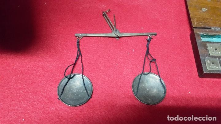 Antigüedades: pequeña balanza quilatera s XIX - Foto 2 - 61507963