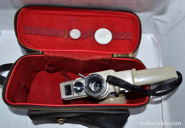 Antigüedades: CINE A CUERDA..FILMADORA 8 mm..SEKONIC DUALMATIC ZOOM+FUNDA..JAPON 1964..MUY BUEN ESTADO..FUNCIONA - Foto 2 - 61564480