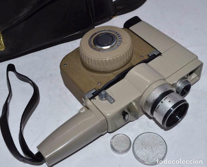 Antigüedades: CINE A CUERDA..FILMADORA 8 mm..SEKONIC DUALMATIC ZOOM+FUNDA..JAPON 1964..MUY BUEN ESTADO..FUNCIONA - Foto 3 - 61564480