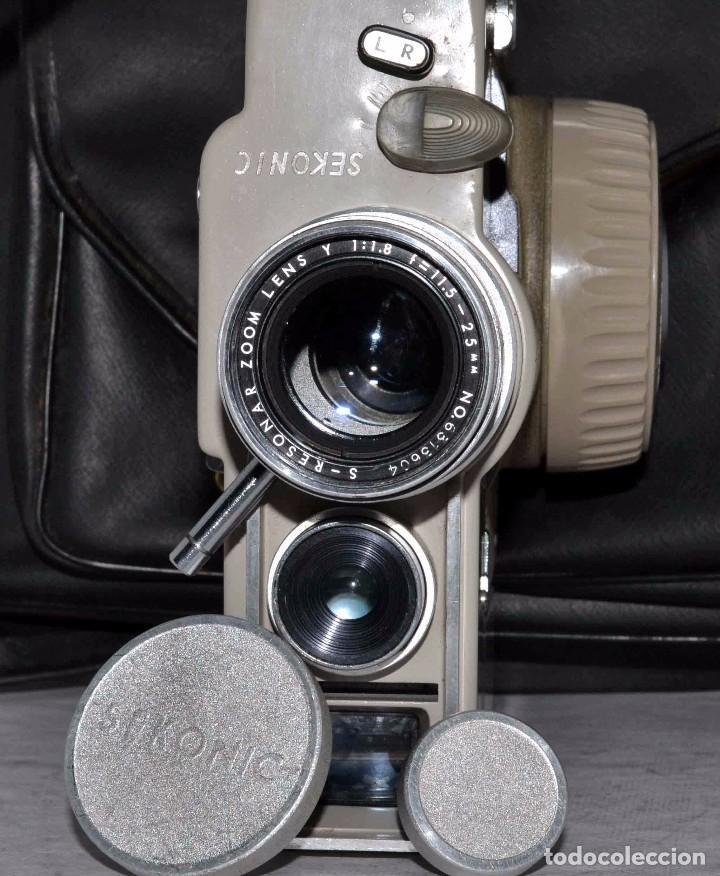 Antigüedades: CINE A CUERDA..FILMADORA 8 mm..SEKONIC DUALMATIC ZOOM+FUNDA..JAPON 1964..MUY BUEN ESTADO..FUNCIONA - Foto 4 - 61564480