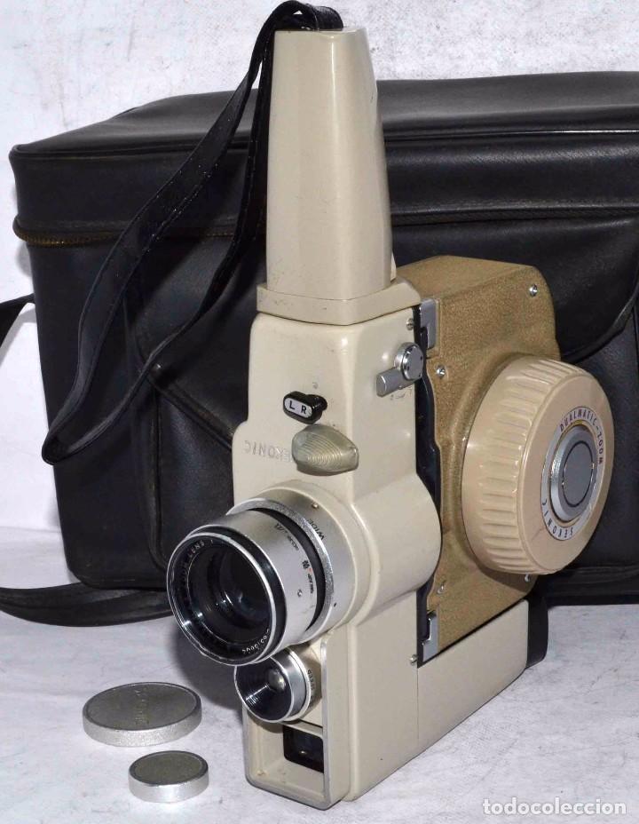 Antigüedades: CINE A CUERDA..FILMADORA 8 mm..SEKONIC DUALMATIC ZOOM+FUNDA..JAPON 1964..MUY BUEN ESTADO..FUNCIONA - Foto 5 - 61564480