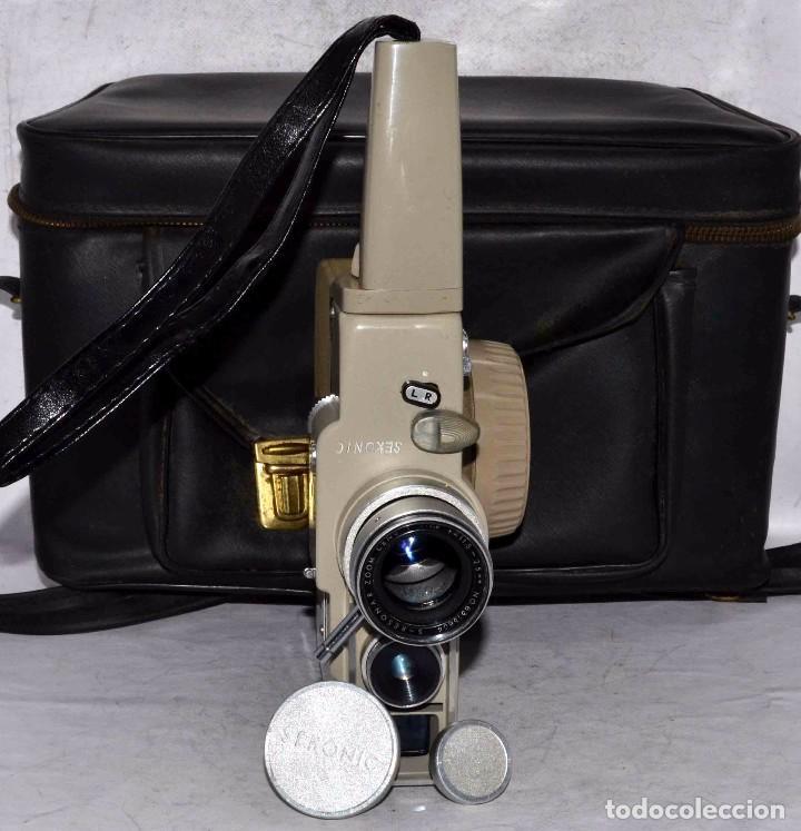 Antigüedades: CINE A CUERDA..FILMADORA 8 mm..SEKONIC DUALMATIC ZOOM+FUNDA..JAPON 1964..MUY BUEN ESTADO..FUNCIONA - Foto 6 - 61564480