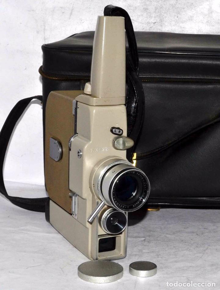 Antigüedades: CINE A CUERDA..FILMADORA 8 mm..SEKONIC DUALMATIC ZOOM+FUNDA..JAPON 1964..MUY BUEN ESTADO..FUNCIONA - Foto 7 - 61564480