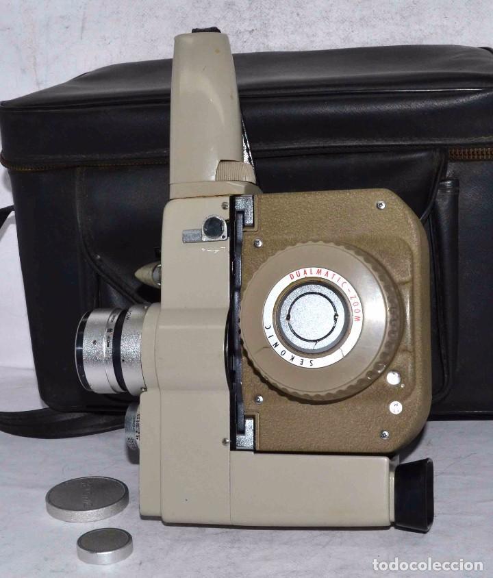 Antigüedades: CINE A CUERDA..FILMADORA 8 mm..SEKONIC DUALMATIC ZOOM+FUNDA..JAPON 1964..MUY BUEN ESTADO..FUNCIONA - Foto 8 - 61564480