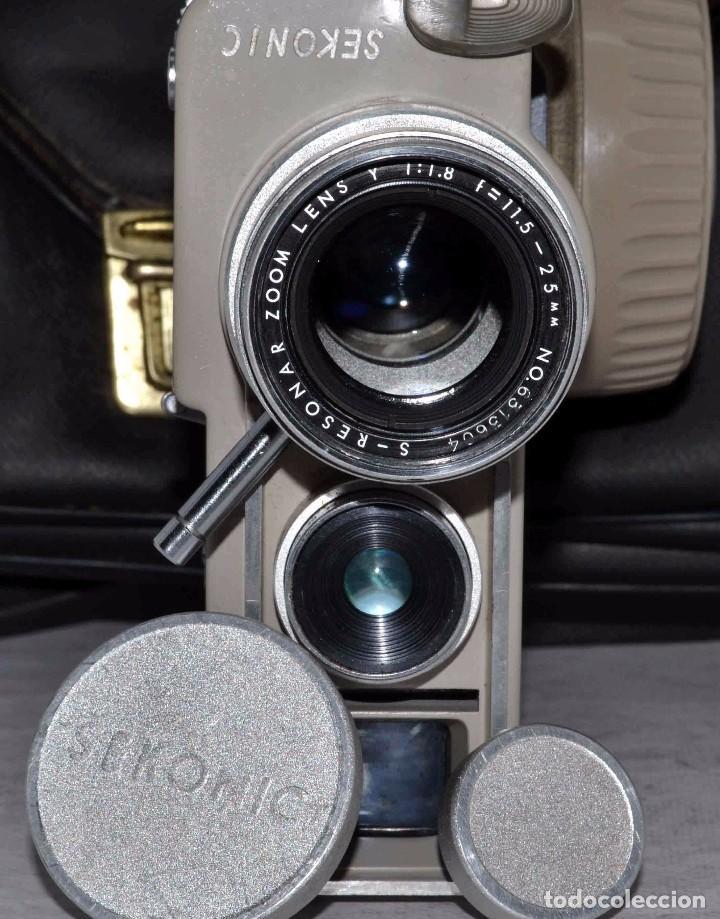 Antigüedades: CINE A CUERDA..FILMADORA 8 mm..SEKONIC DUALMATIC ZOOM+FUNDA..JAPON 1964..MUY BUEN ESTADO..FUNCIONA - Foto 9 - 61564480