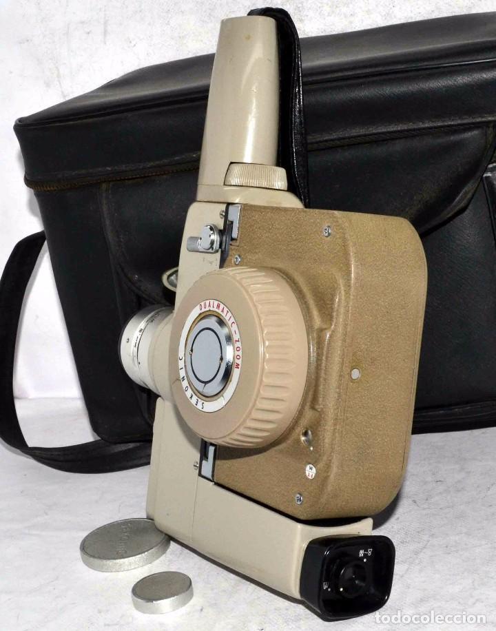Antigüedades: CINE A CUERDA..FILMADORA 8 mm..SEKONIC DUALMATIC ZOOM+FUNDA..JAPON 1964..MUY BUEN ESTADO..FUNCIONA - Foto 11 - 61564480