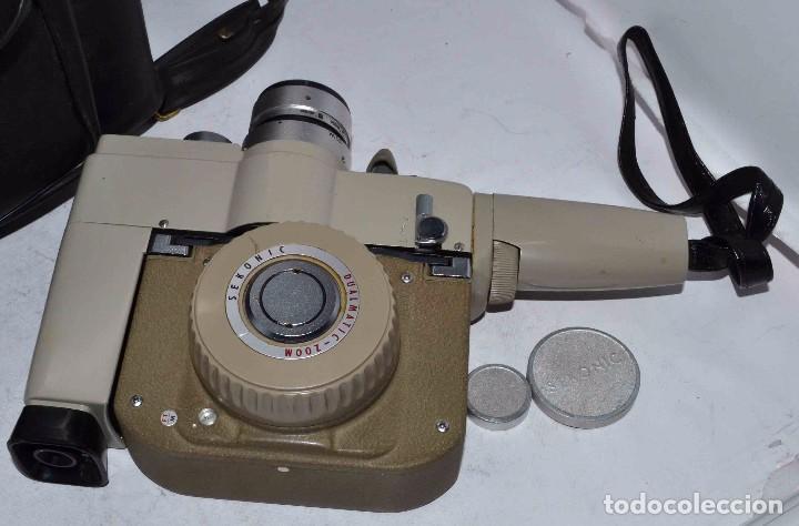 Antigüedades: CINE A CUERDA..FILMADORA 8 mm..SEKONIC DUALMATIC ZOOM+FUNDA..JAPON 1964..MUY BUEN ESTADO..FUNCIONA - Foto 16 - 61564480