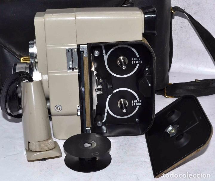 Antigüedades: CINE A CUERDA..FILMADORA 8 mm..SEKONIC DUALMATIC ZOOM+FUNDA..JAPON 1964..MUY BUEN ESTADO..FUNCIONA - Foto 19 - 61564480