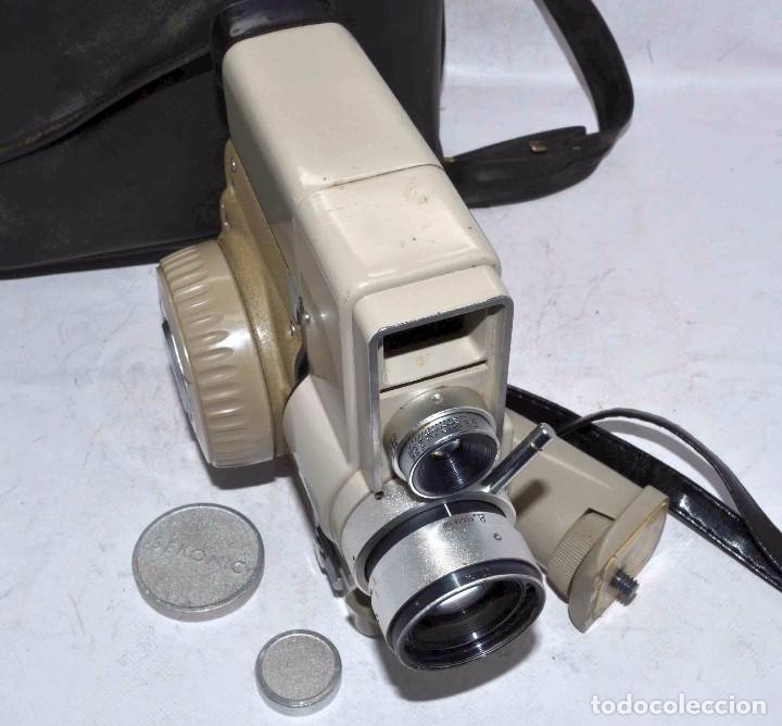 Antigüedades: CINE A CUERDA..FILMADORA 8 mm..SEKONIC DUALMATIC ZOOM+FUNDA..JAPON 1964..MUY BUEN ESTADO..FUNCIONA - Foto 21 - 61564480