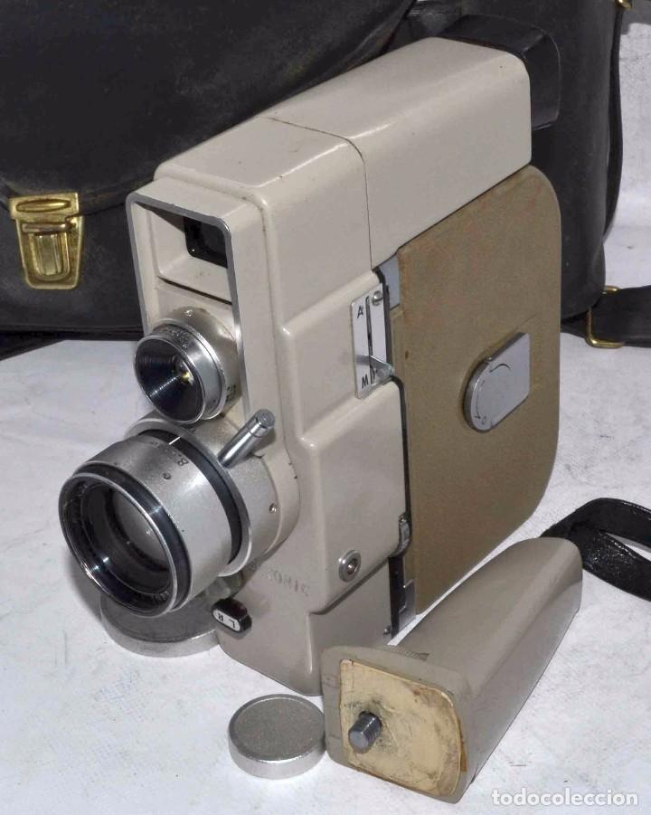 Antigüedades: CINE A CUERDA..FILMADORA 8 mm..SEKONIC DUALMATIC ZOOM+FUNDA..JAPON 1964..MUY BUEN ESTADO..FUNCIONA - Foto 24 - 61564480