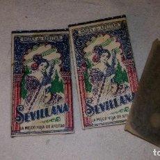 Antigüedades: 3 CUCHILLA CUCHILLAS AFEITAR COMPLETAS, LLEVA LA CUCHILLA, MARCA SEVILLANA. Lote 61575136