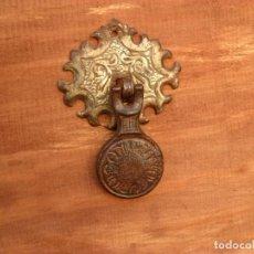 Antigüedades: PRECIOSO TIRADOR ANTIGUO EN HIERRO,FORJA,SIGLO XIX,TRABAJADO. Lote 61915096