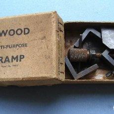 Antigüedades: TORNILLO DE APRIETE / ABRAZADERA ELWOOD MULTI PURPOSE CRAMP, EN SU CAJA. Lote 61980488