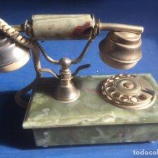 Teléfonos: TELEFONO ANTIGUO MARMOL,BRONCE/LATON/BAQUELITA RULETA GIRATORIA PESO 2,300 KG. Lote 61989004