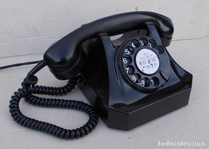 Telefono Antiguo De Baquelita Data 1957 De Auto