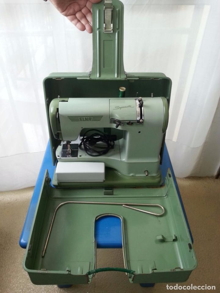 Antigua máquina de coser elna supermatic. funci - Vendido