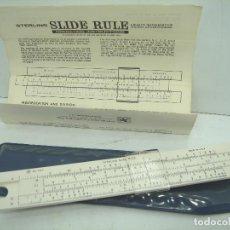 Antigüedades: ANTIGUA REGLA DE CALCULO - STERLING N.587 USA -PROMOCIONAL LLEDO VALENCIA + INSTRUCCIONES+ FUNDA. Lote 62261088