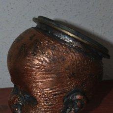 Antigüedades: ANTIGUO MOLDE DE BRONCE PARA CABEZA DE MUÑECO - MUÑECA. Lote 100455691