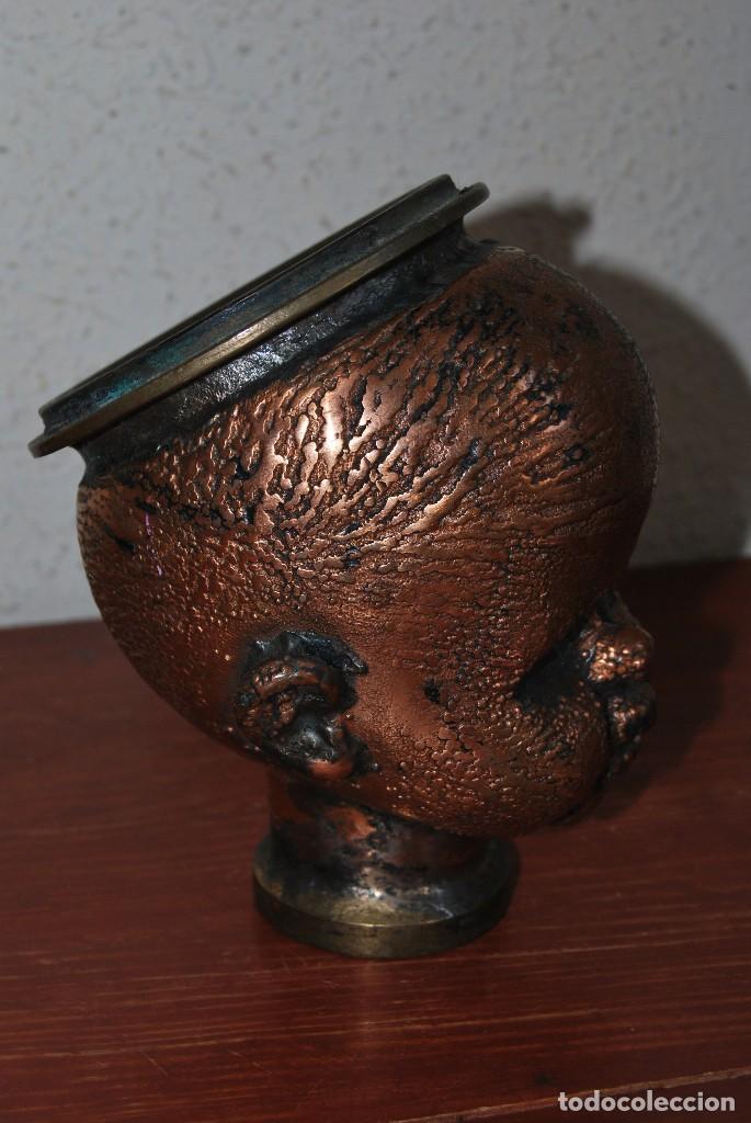 Antigüedades: ANTIGUO MOLDE DE BRONCE PARA CABEZA DE MUÑECO - MUÑECA - Foto 3 - 100455691