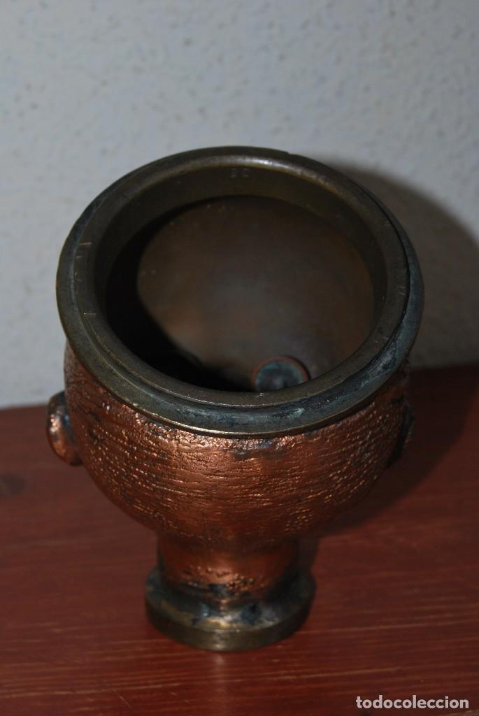 Antigüedades: ANTIGUO MOLDE DE BRONCE PARA CABEZA DE MUÑECO - MUÑECA - Foto 4 - 100455691