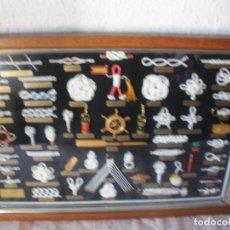 Antigüedades: GRAN CUADRO CON NUDOS MARINEROS DE REALIZACIÓN ARTESANAL 65 X 45 CM. Lote 62372892