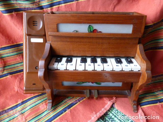 TELEFONO EN FORMA DE PIANO (Antigüedades - Técnicas - Teléfonos Antiguos)