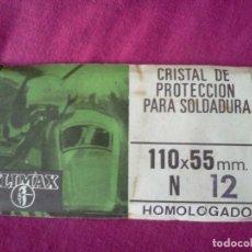Antigüedades: CRISTAL PROTECTOR PARA SOLDADURA. Lote 62477512