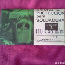 Antigüedades: CRISTAL PROTECTOR PARA SOLDADURA. Lote 62477856