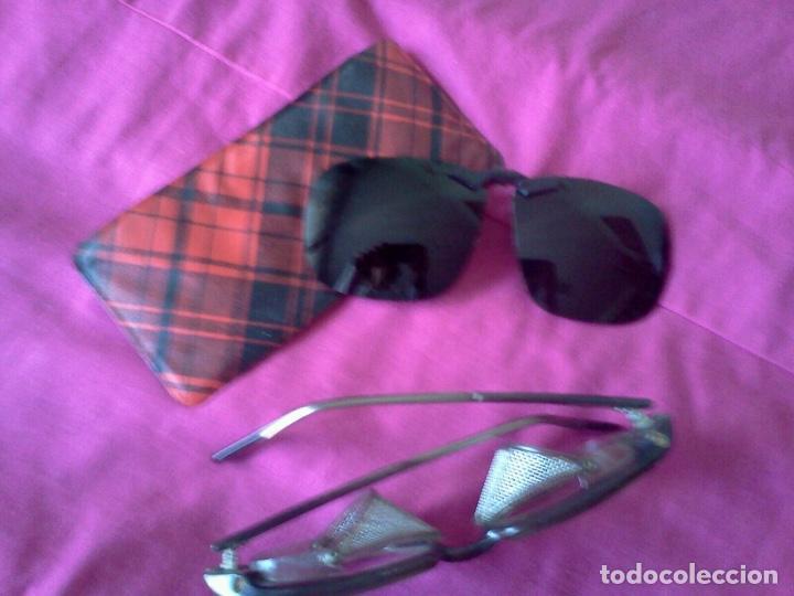 GAFAS DE PROTECCION Y SUPLEMENTO (Antigüedades - Técnicas - Instrumentos Ópticos - Gafas Antiguas)