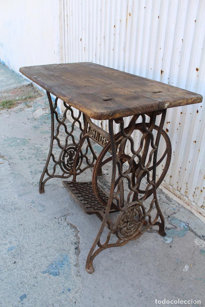 Mesa pie maquina de coser singer vendido en venta directa 62485228 - Mesa maquina coser singer ...