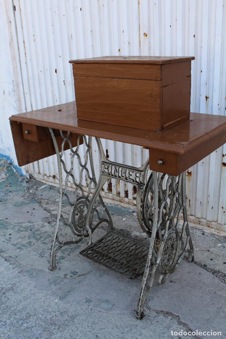 Mesa pie maquina de coser singer vendido en venta directa 62485468 - Mesa maquina coser singer ...