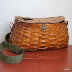 Antigüedades: ANTIGUA CESTA DE PESCA. Lote 62505292