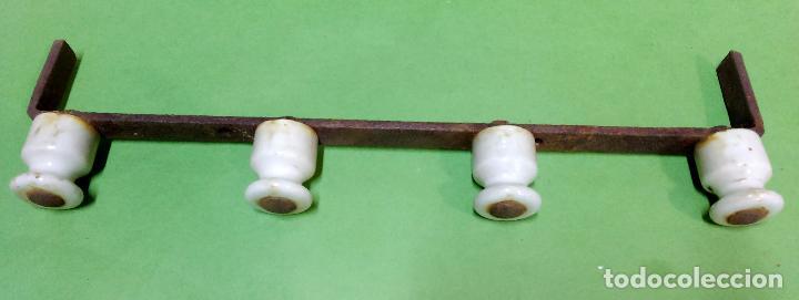 Antigüedades: LOTE 60 ELEMENTOS ANTIGUOS DE PORCELANA CON CAJA DE MADERA OBSERQUIO. VER - Foto 5 - 62509616