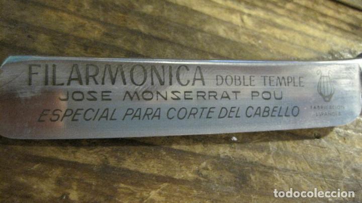 Antigüedades: NAVAJA FILARMONICA DOBLE TEMPLE CORTE DE PELO - Foto 2 - 62519924