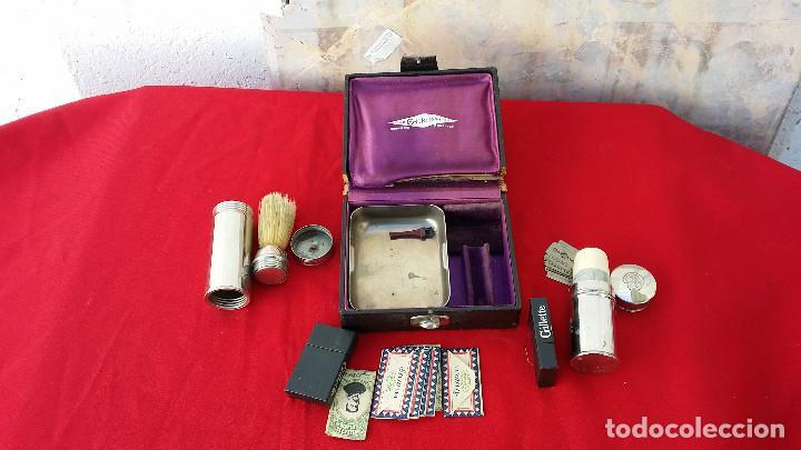 Antigüedades: neceser de cuchillas, jabon y escobillas - Foto 3 - 62569072