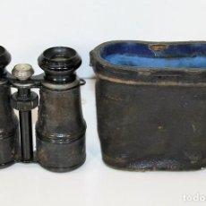 Antigüedades: BINOCULAR CON BRÚJULA INCORPORADA. DEPOSE. PARIS. CIRCA 1940.. Lote 62603192