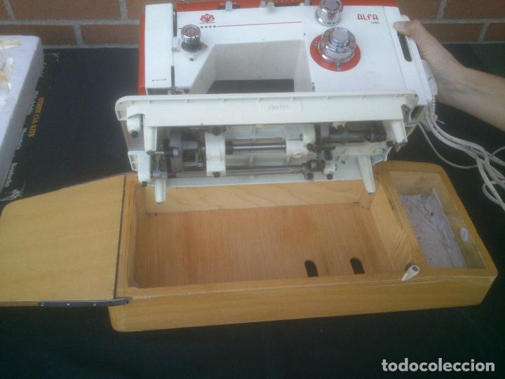 Antigüedades: MAQUINA DE COSER PORTATIL ALFA 1140 - Foto 10 - 155882854