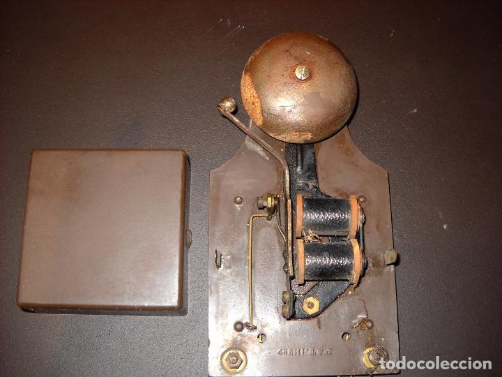Antigüedades: raro y antiguo timbre de campana en plástico. - Foto 2 - 62762532