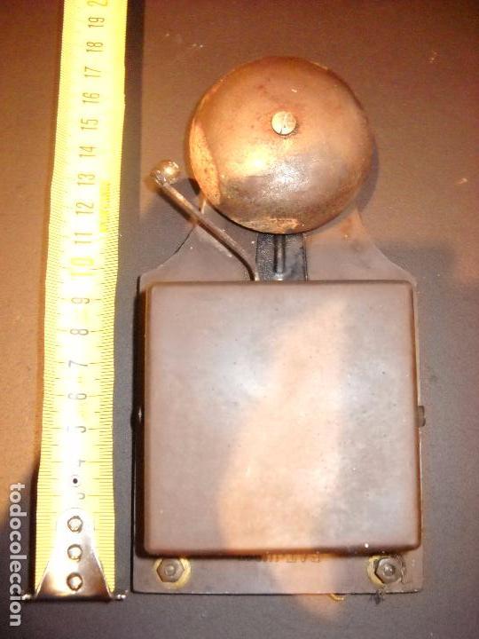 Antigüedades: raro y antiguo timbre de campana en plástico. - Foto 3 - 62762532