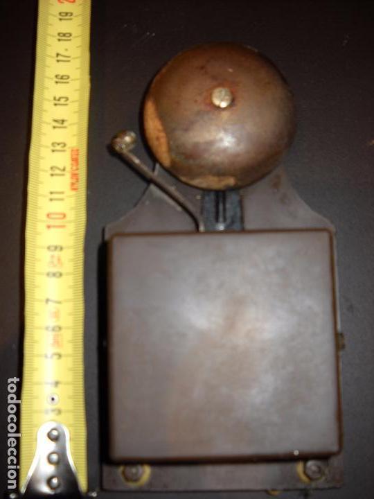 Antigüedades: raro y antiguo timbre de campana en plástico. - Foto 4 - 62762532