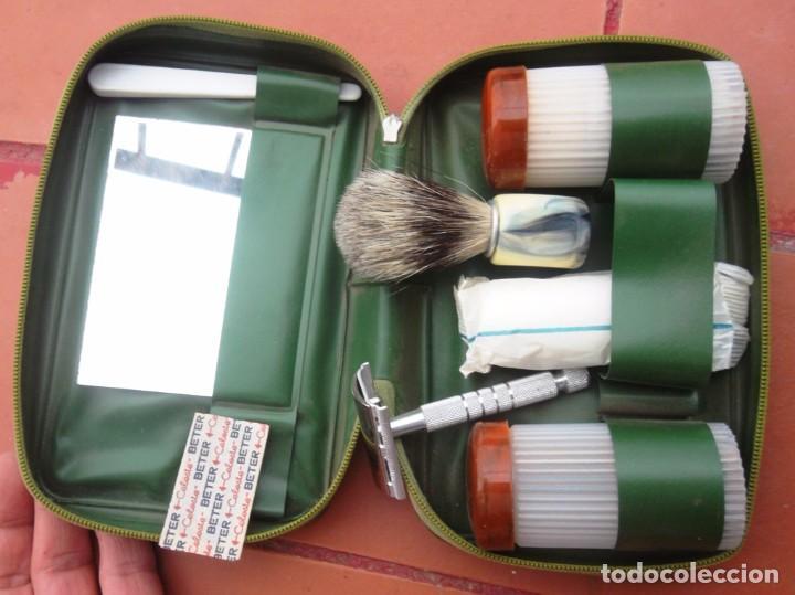 ESTOIG D'AFAITAR-SE BETER / ESTUCHE DE AFEITAR NECESER 18 X 11 IMPECABLE V FOTOS (Antigüedades - Técnicas - Barbería - Maquinillas Antiguas)