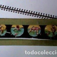 Antigüedades: CRISTAL PINTADO DE LINTERNA MÁGICA SIGLO XIX - 10 POR 2 CM - DEPORTES DE AGUA. Lote 63022688