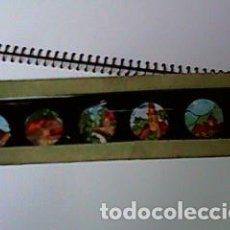 Antigüedades: CRISTAL PINTADO DE LINTERNA MÁGICA SIGLO XIX - 10 POR 2 CM - EDIFICIOS 3. Lote 63023020