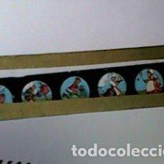 Antigüedades: CRISTAL PINTADO DE LINTERNA MÁGICA SIGLO XIX - 10 POR 2 CM - EDIFICIOS 3. Lote 63023132